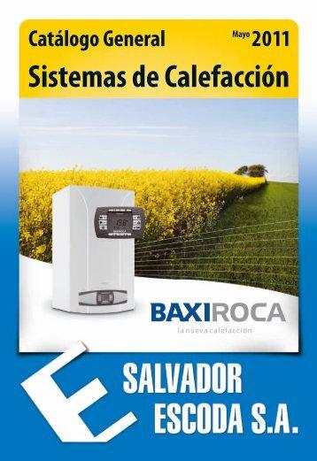 Catálogo Calefacción BaxiRoca 2011 - Salvador Escoda SA