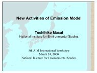 New Activities of Emission Model