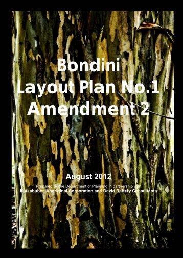 Bondini LP1 Amendment 2 Report - Western Australian Planning ...