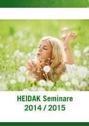 HEIDAK Seminare 2014 / 2015