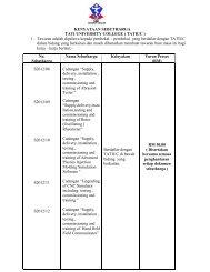 KENYATAAN SEBUTHARGA TATI UNIVERSITY COLLEGE ( TATIUC )