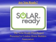 The Solar Ready Pilot Project