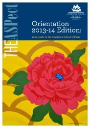 The ASPect - Orientation 2013-14 - American School of Paris
