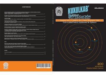 Descargar portada e índice - Publicaciones - Universidad Juárez ...