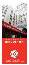 BURN CENTER - New York Presbyterian Hospital