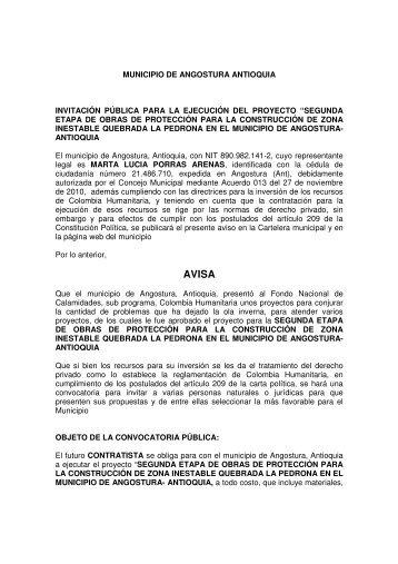 Descargar SEGUNDA ETAPA DE OBRAS DE ... - Angostura