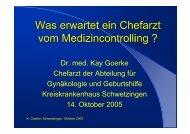 Dr. med. Kay Goerke Chefarzt der Abteilung für Gynäkologie und ...