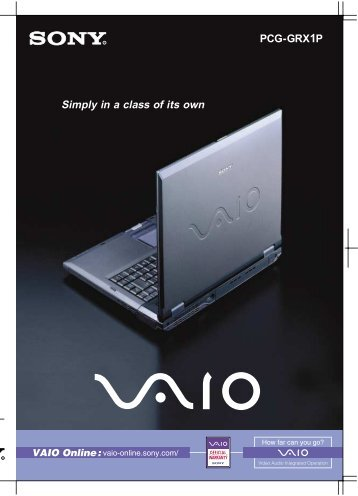 user manual sony vaio pcg 505e 1 rh yumpu com sony vaio manual download free sony vaio manuel