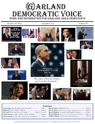 Oct - Garland Democratic Voice