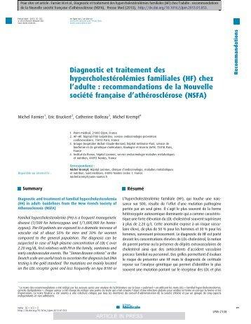 nsfa 2013 - Prévention des Risques Vasculaires