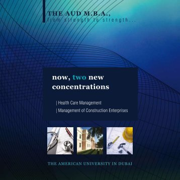 now, two new concentrations - American University in Dubai