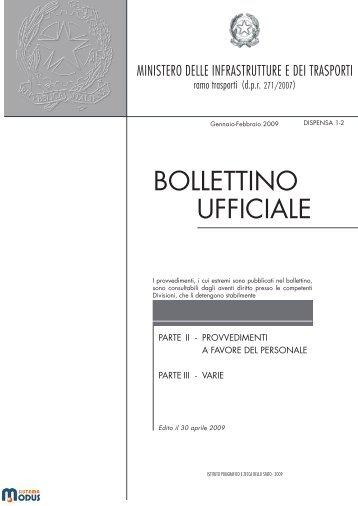 bollettino ufficiale - Pubblicazioni Ufficiali dello Stato - Istituto ...