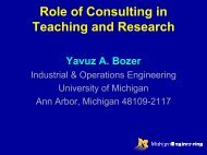 Role of Consulting in Teaching and Research - H. Milton Stewart ...