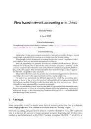 Flow based network accounting with Linux