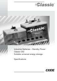 Industrial Batteries – Standby Power Classic OGi Suitable ... - Acculine