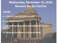 Wednesday, November 10, 2010: Reasons for the Decline