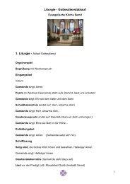 Liturgie - Gottesdienstablauf - Evangelisches Dekanat Vorderer ...