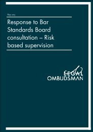 Report template A4 office printing - Black - Legal Ombudsman
