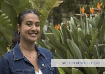 STUDENT RESEARCH PRIZES - University of Melbourne