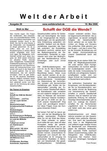WdAMai 2006 - Welt der Arbeit
