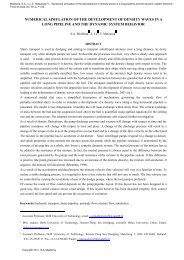numerical simulation of the development of density waves in a long ...