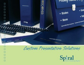 Spiral Custom Catalog (Nov-2006) - Spiral Binding Company