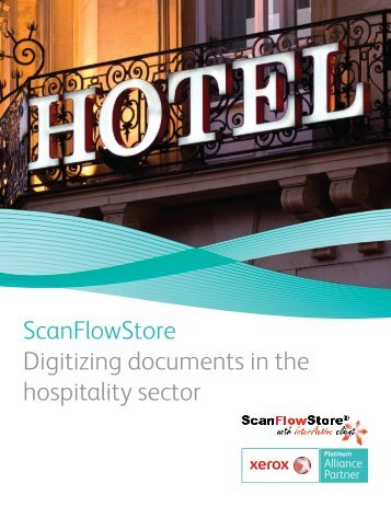ScanFlowStore Digitizing documents in the hospitality sector