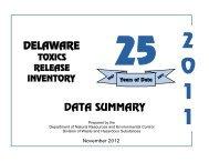 2011 TRI Summary Report.pdf - Delaware Department of Natural ...