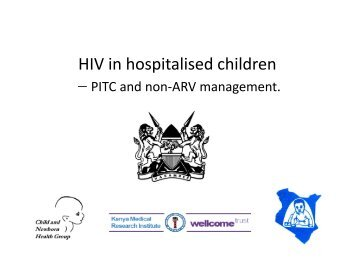 HIV in hospitalised children - iDOC Africa