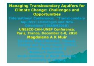 Managing Transboundary Aquifers for Climate Change ... - EUCC