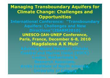 Managing Transboundary Aquifers for Climate Change ... - EUCC