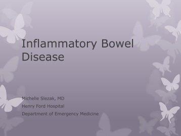 Inflammatory Bowel Disease - Emergency Medicine
