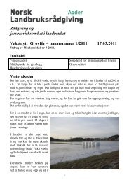 Les mer - Norsk Landbruksrådgiving Agder