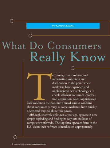 What Do Consumers Really Know by Xiaoni Zhang (pd, 101 kb) - Eicar