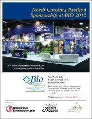 North Carolina Pavilion Sponsorship at BIO 2012