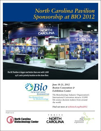 North Carolina Pavilion Sponsorship at BIO 2012