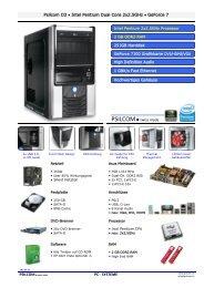 Psilcom O3 • Intel Pentium Dual Core 2x2.5GHz • GeForce 7 PC ...