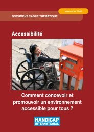 Accessibilité - Handicap International