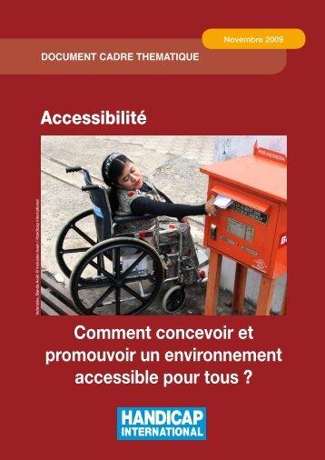 Accessibilité - Handicap International