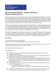 Betriebswirtschaftslehre – Energy and Finance Master of Science (M ...