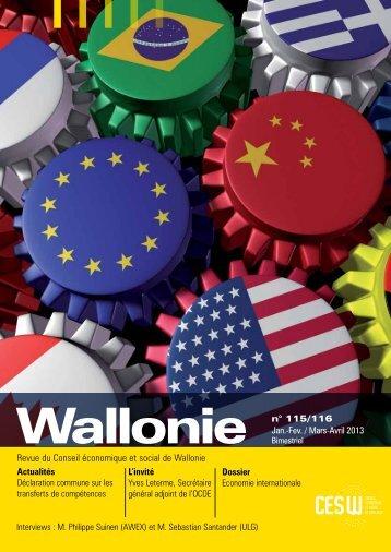 Wallonie n°115/116 - Conseil économique et social de la région ...