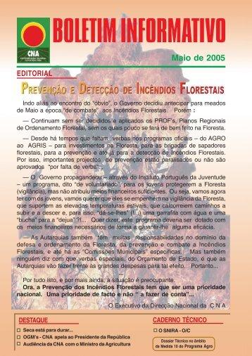 Boletim Informativo Maio de 2005 - CNA