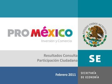 IV. Tema seleccionado para el ejercicio de ... - ProMéxico