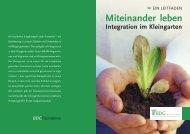 Miteinander leben - Bundesverband Deutscher Gartenfreunde e.V.