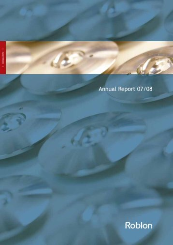 Annual Report 07/08 - Roblon A/S