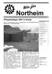 Pfingstzeltlager 2001 in Goslar - THW OV Northeim