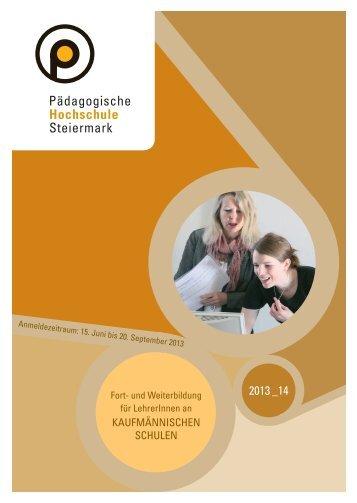 Fort- und Weiterbildung Kaufmännische Schulen 2013/14