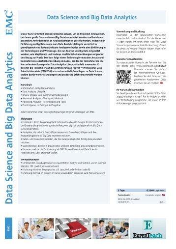 Data Science and Big Data Analytics - ExperTeach