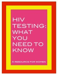 HIV Testing-What you need to know - Canadian AIDS Society
