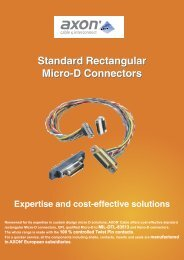 Range of Micro-D standard connectors - Microd-connectors.com